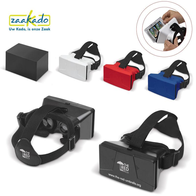 Virtual Reality bril logo bedrukken 3D cadeautip mannen gadget relatiegeschenk eindejaarsgeschenk kerst ZaaKado Rotterdam
