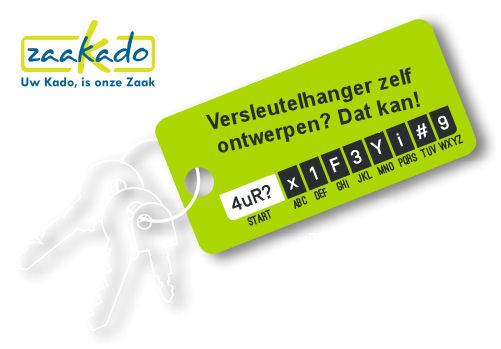 Wachtwoord versleutelhanger Zaakado veilig promotieartikel giveaway 24 november relatiegeschenken Zaakado Rotterdam