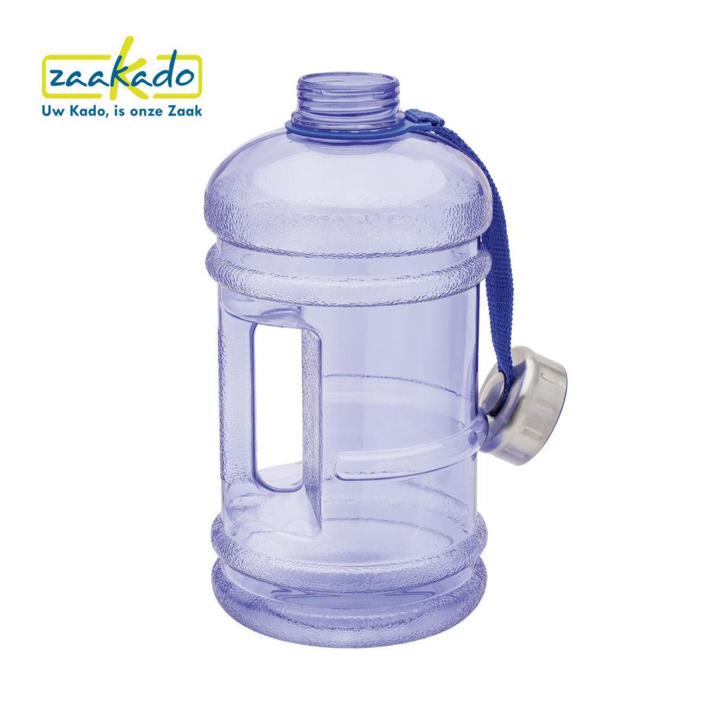 Waterkoeler Waterfles logo 2 liter groot giveaway personeel cadeau betaalbaar logo personaliseren ZaaKado Rotterdam watercooler