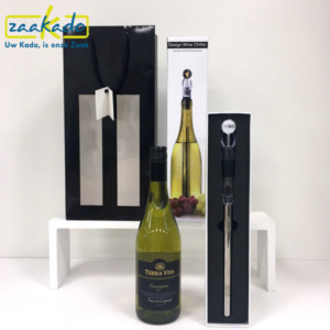 Winechill wijn wijnkoeler wijngeschenk brievenbusgeschenk direct mailing zakelijke relaties netwerk klanten personeel gasten bezoekers deelnemers relatiegeschenk ZaaKado Rotterdam