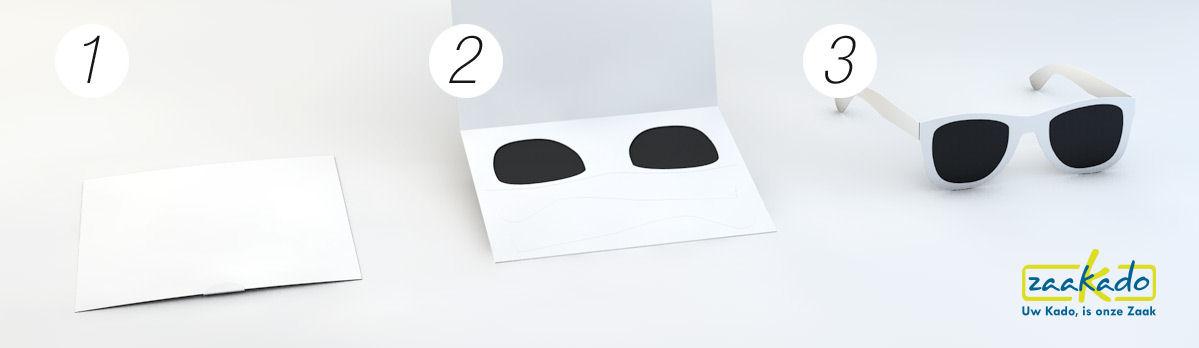 Zonnebril ansichtkaart instructie promotieartikel originele postale mailing campagne ZaaKado Rotterdam