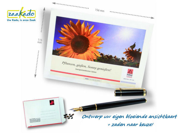 nsichtkaart met zaden gepersonaliseerd custom made opgemaakt brievenbus lente mailing Zaakado rotterdam bloeiende relatiegeschenken tekst1006