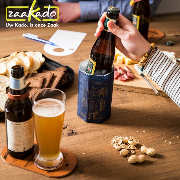 dubbele onderzetter zaakado bier koeler cooler koud zomer terras lauw bier zaakado personaliseren rotterdam giveaway vacu vin wijnkoeler slimme gadget handig tip