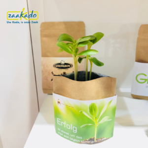 eco groen logo full colour bedrukken DM directmailing groeien bloeien planten zaden zakje brievenbus post Zaakadotip relatiegeschenken zaakado giveaway inspiratie rot