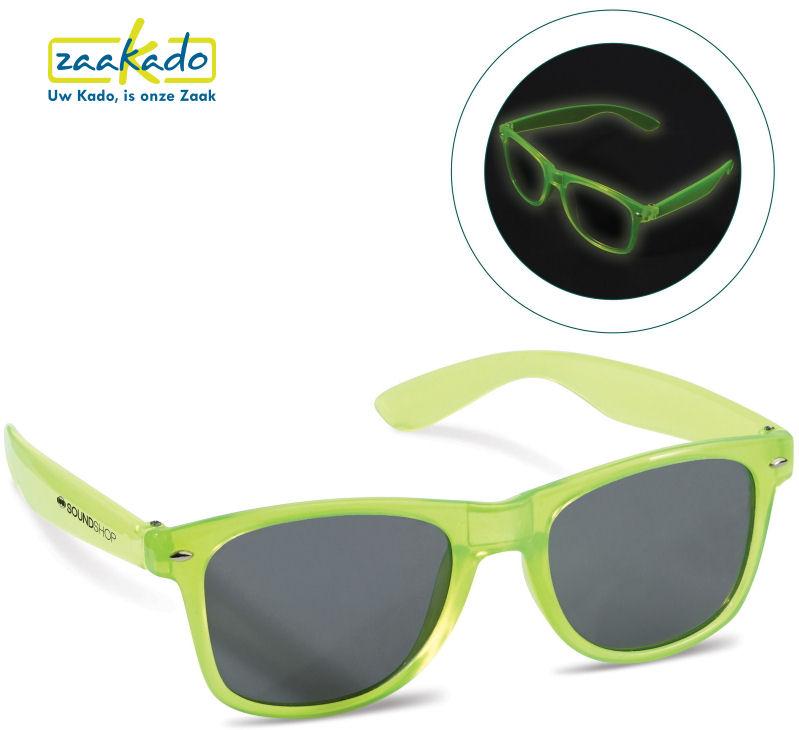 glow in the dark zonnebril festival personaliseren bedrukken met logo zaakado rotterdam