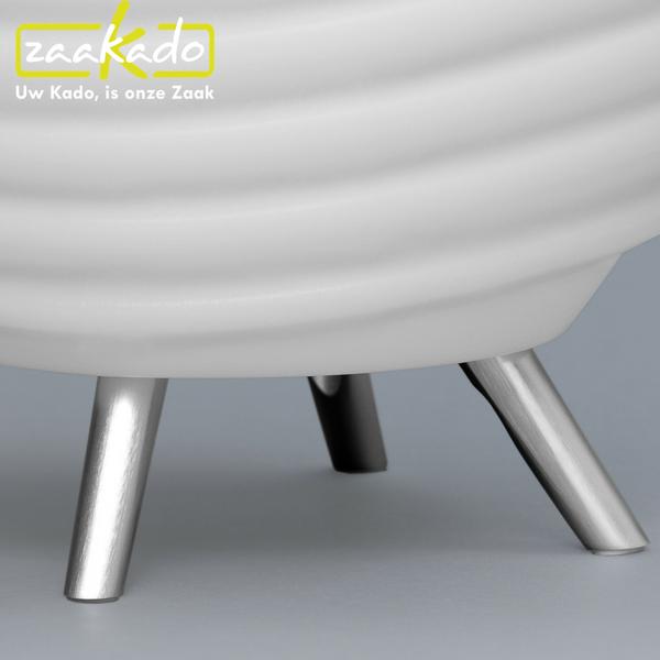 bluetooth speaker, wijnkoeler en led lamp hippe luxe relatiegeschenken moderne afwerking aluminium poten led verlichting batterij energie draagbare fleskoeler hoe werkt blinddruk waarom relatiegeschenken personaliseren