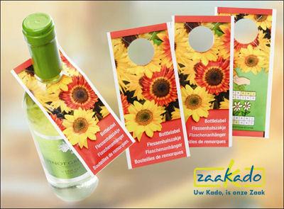 lente wijn geschenken zaden flessenhanger bloeiende relatiegeschenken Rotterdam relatiegeschenken ZaaKado 593