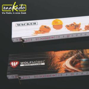 logo duimstok kunststof personaliseren scharnieren metaal kwaliteit ZaaKadotip relatiegeschenken ZaaKado giveaway inspiratie Rotterdam gadget full colour
