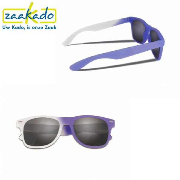 marketingactie zonnebril logo huisstijl kleur veranderen twist origineel zaakado uv straling gadget zonnebrillen