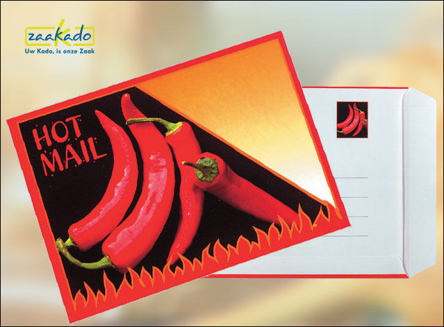 postale mailing actiemarketing met rode peper ansichtkaart custom made relatiegeschenken Zaakado Rotterdam 595