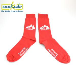 relatiegeschenken ZaaKado Rotterdam Sok sokken business logo bedrijfsontwerp kleuren rood neutraal werk sport casual homesocks sublimatie verpakking bedrijven zakelijke relaties
