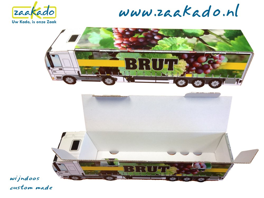 vrachtwagen wijnkist wijndoos relatiegeschenken & eindejaarsgeschenken Zaakado BV